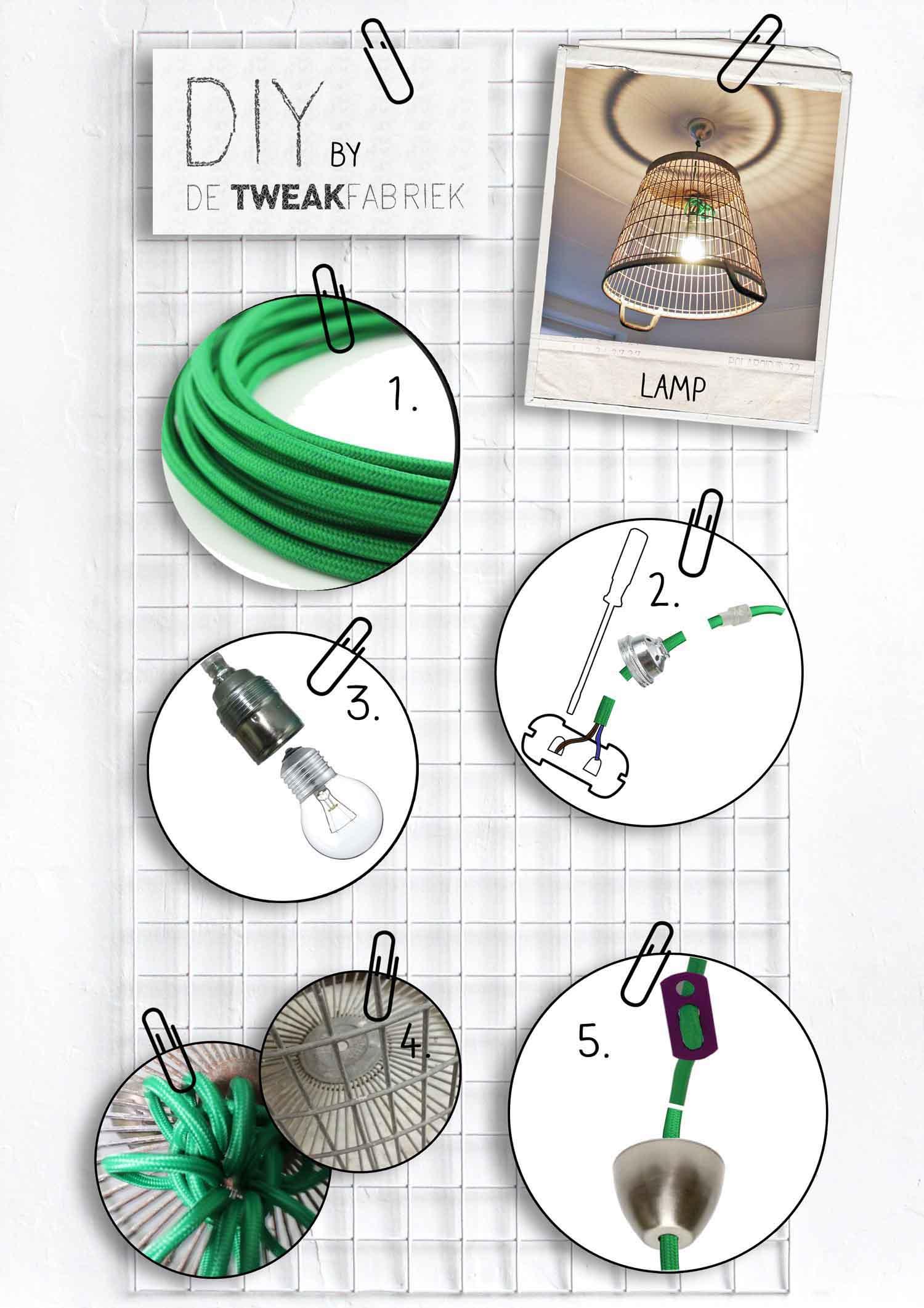 DIY tutorial aardappelmand lamp