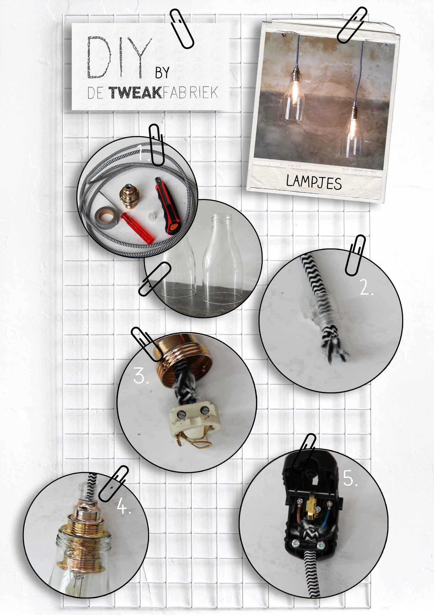 DIY tutorial_lampje van glazen sapfles