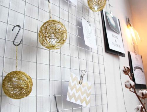 DIY lampjes van gouddraad
